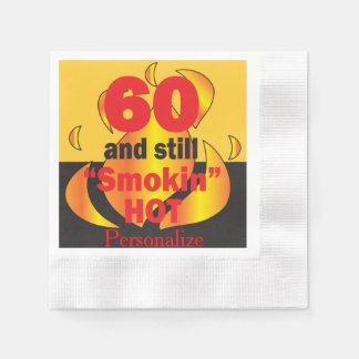 60 and Still Smokin Hot | 60th Birthday Disposable Napkin