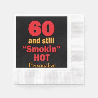 60 and Still Smokin Hot | 60th Birthday Disposable Serviettes