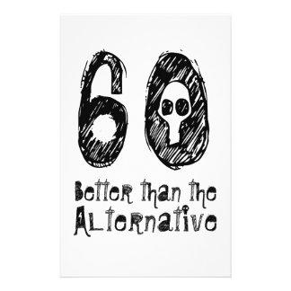 60 Better Than Alternative 60th Funny Birthday Q04 Custom Flyer