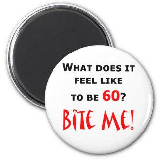 60 Bite Me! 6 Cm Round Magnet