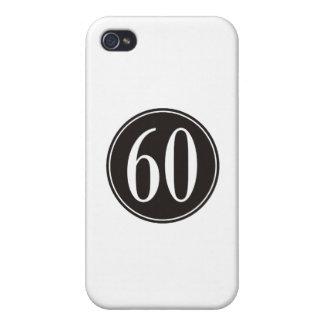 #60 Black Circle iPhone 4/4S Cases