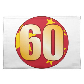 60 CHINA Gold Placemat