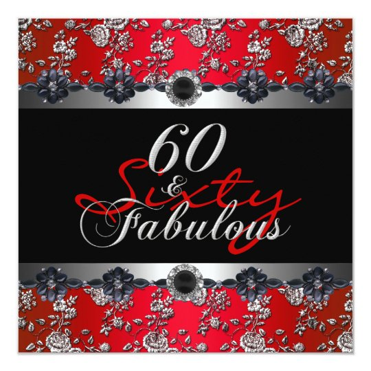 Red And Black 60th Birthday Decorations Interior