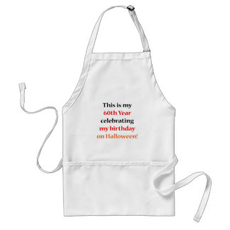 60 Halloween Birthday Standard Apron