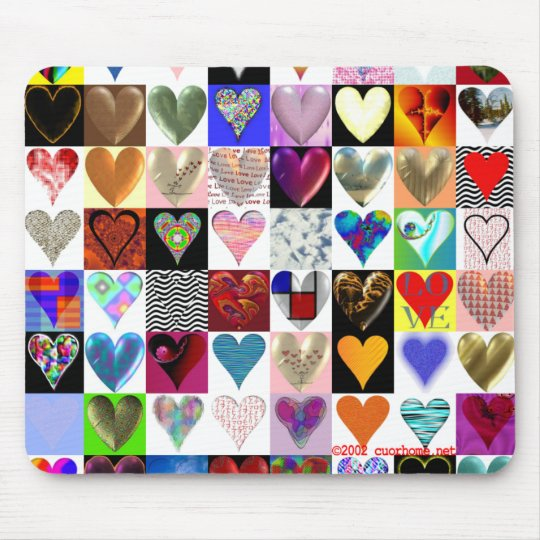 60 Hearts on a Mousepad