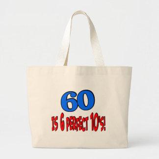 60 is 6 perfect 10s (BLUE) Jumbo Tote Bag