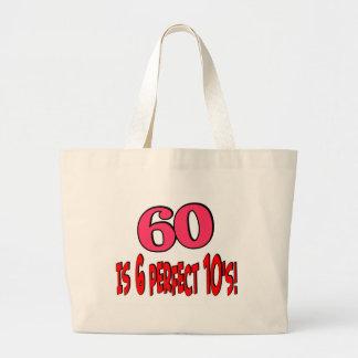60 is 6 perfect 10s (PINK) Jumbo Tote Bag