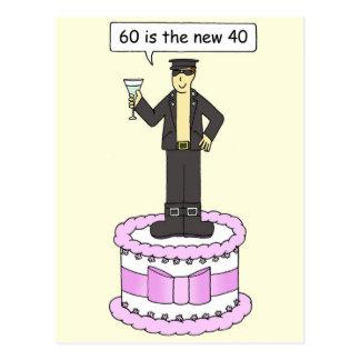 60 is the new 40 Gay man's birthday. Postcard