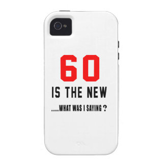 60 is the new ..what was i saying vibe iPhone 4 cover