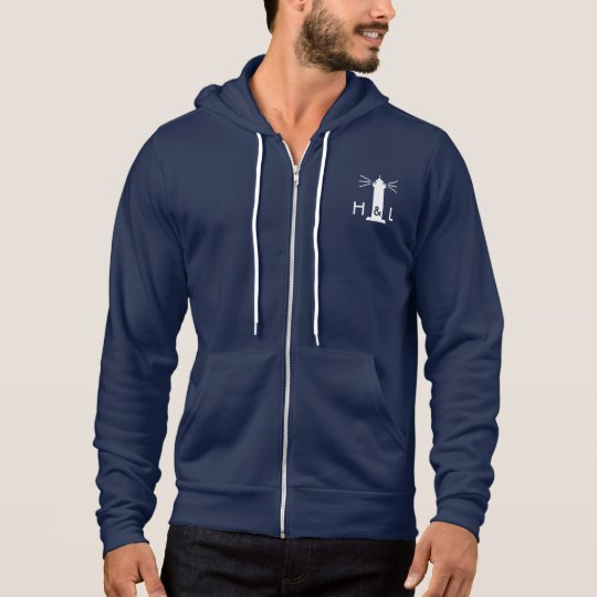 $60 Men Navy Blue Better Zip Hoodie - H&L