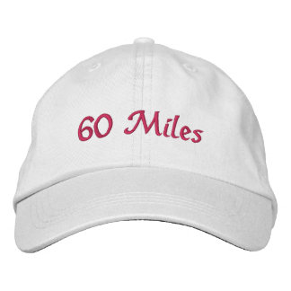 60 Miles hat Embroidered Baseball Caps