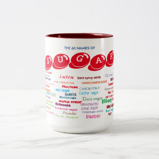 60 Names of Sugar Two-Tone Coffee Mug