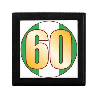 60 NIGERIA Gold Small Square Gift Box