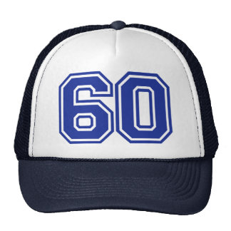 60 - number - sixty hat