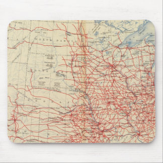 60 Railroad systems 1890 Mouse Mat