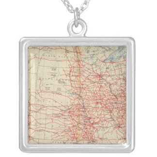 60 Railroad systems 1890 Silver Plated Necklace
