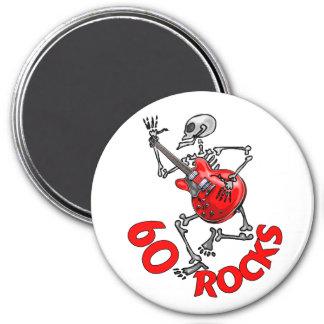60 ROCKS 7.5 CM ROUND MAGNET