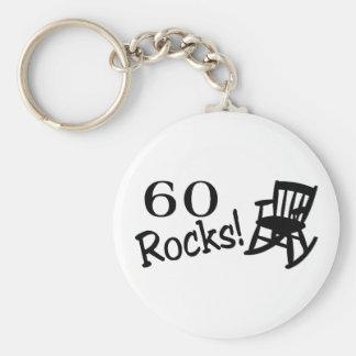 60 Rocks (Rocker) Basic Round Button Key Ring
