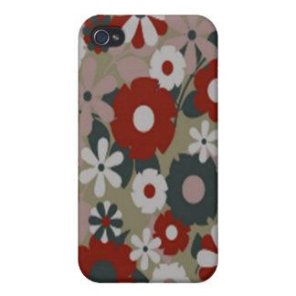60 s Florals iPhone 4 Cases