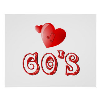 60 s Hearts Posters