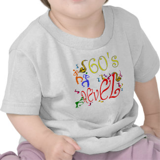 60 s Rebel revel party humor kids Shirts