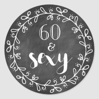 60 & Sexy 60th Birthday Custom Stickers
