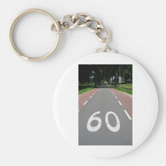 60 sixty basic round button key ring