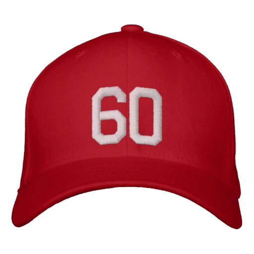 60 Sixty Embroidered Cap