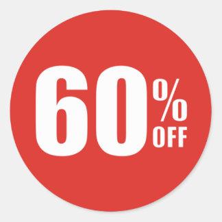 60% Sixty Percent OFF Discount Sale Sticker