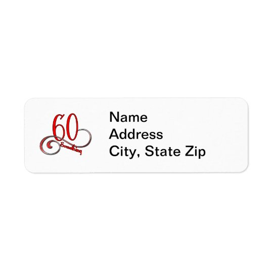 60 Something Return Address Label