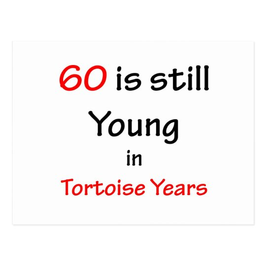 60 Tortoise Years Postcard