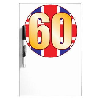 60 UK Gold Dry Erase Board