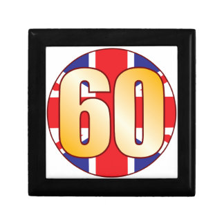 60 UK Gold Small Square Gift Box