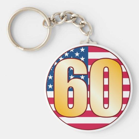 60 USA Gold Key Ring