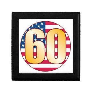 60 USA Gold Small Square Gift Box