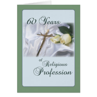 60 Year Anniversary for Nun Religious Profession Greeting Card