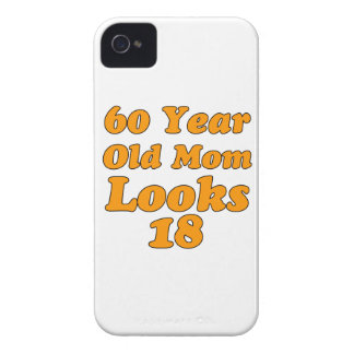 60 year old birthday designs iPhone 4 cases