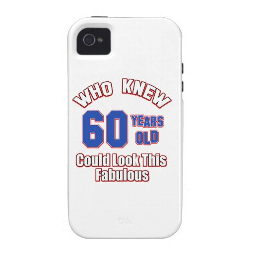 60 year old birthday designs iPhone 4/4S case