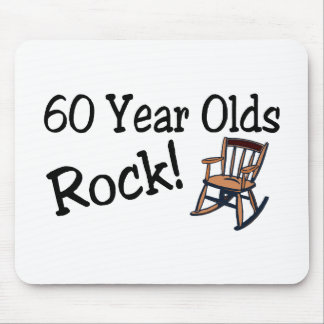 60 Year Olds Rock (Rocking Chair) Mouse Pad