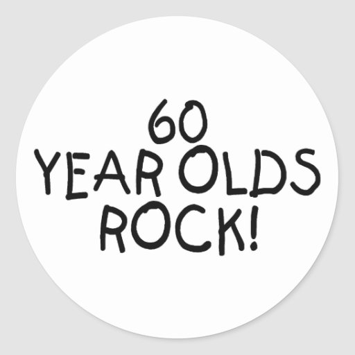 60 Year Olds Rock Stickers