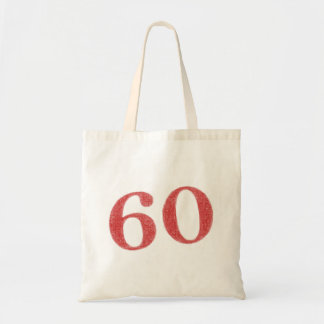 60 years anniversary budget tote bag