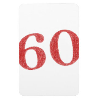60 years anniversary rectangular photo magnet