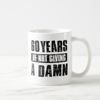 60 years basic white mug