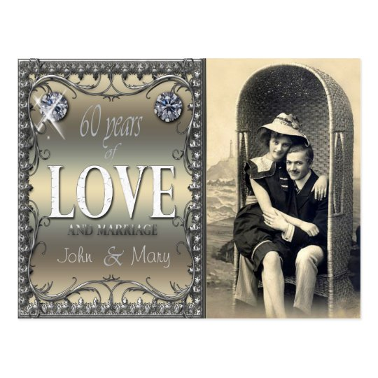 60 Years of Love Postcard