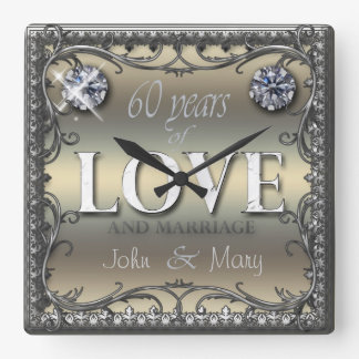60 Years of Love Square Wallclocks