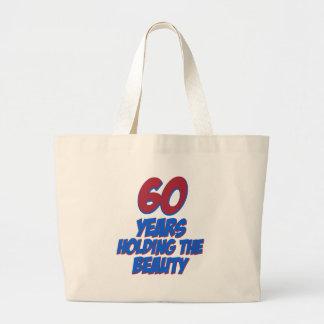60 years old birthday designs tote bag