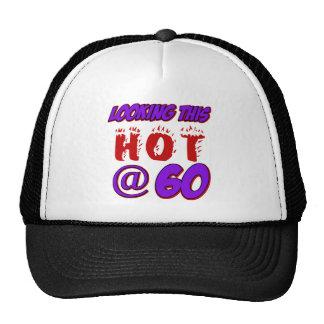 60 years old birthday designs cap