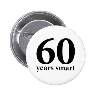 60 years smart 6 cm round badge