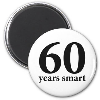 60 years smart refrigerator magnets