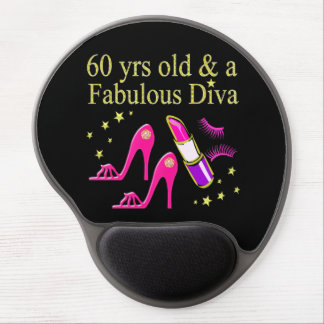 60 YRS OLD & A DAZZLING DIVA GEL MOUSE PAD